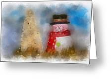 Snowman Photo Art 13 Greeting Card
