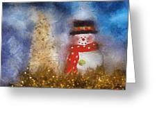 Snowman Photo Art 14 Greeting Card