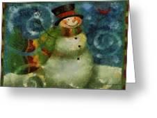 Snowman Photo Art 16 Greeting Card