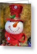 Snowman Photo Art 19 Greeting Card