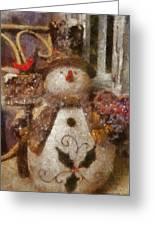 Snowman Photo Art 30 Greeting Card