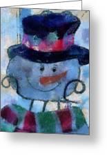 Snowman Photo Art 34 Greeting Card