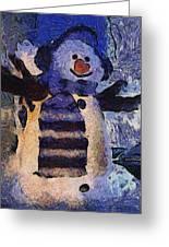 Snowman Photo Art 44 Greeting Card