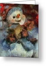 Snowman Photo Art 47 Greeting Card