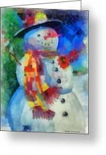 Snowman Photo Art 53 Greeting Card