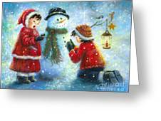 Snowman Song Greeting Card