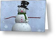 Snowman... Greeting Card