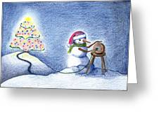 Snowman's X'mas Greeting Card