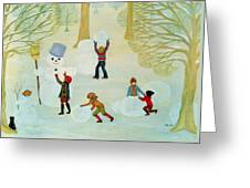 Snowmen Greeting Card by Ditz