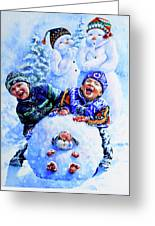 Snowmen Greeting Card