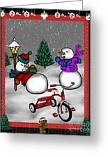 Snowmen Playing Greeting Card