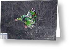 Snowmobile Air Time Greeting Card