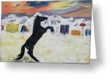Snowtime In Vegas Greeting Card