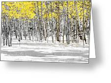 Snowy Aspen Landscape Greeting Card