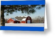 Snowy Barn-0087 Greeting Card