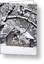 Snowy Barn 2 Greeting Card