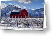 Snowy Barn In The Mountains - Utah Greeting Card