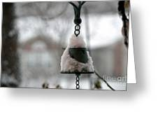 Snowy Bell Greeting Card