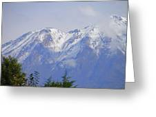 Snowy Blue Mountains Greeting Card