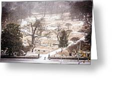 Snowy Cemetery Greeting Card