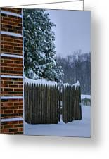 Snowy Corner Greeting Card by Steven Ainsworth