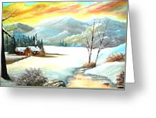 Snowy Country Greeting Card