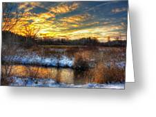 Snowy Dawn At South Ore Creek Greeting Card
