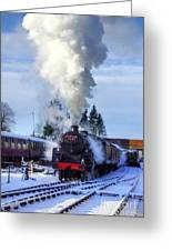 Snowy Day Departure Greeting Card