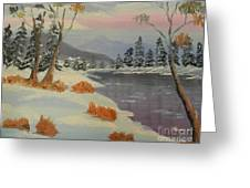 Snowy Day In Europe Greeting Card