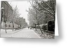Snowy Day In Madrid Greeting Card