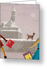 Snowy Evening In The City Greeting Card