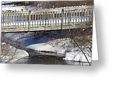 Snowy Foot Bridge Greeting Card