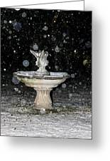 Snowy Fountain Greeting Card