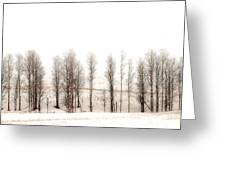 Snowy Hill Greeting Card