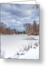 Snowy Lake Greeting Card