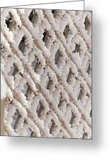 Snowy Lattice Vertical Greeting Card