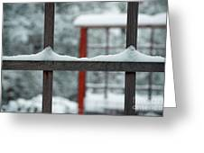 Snowy Lines Greeting Card