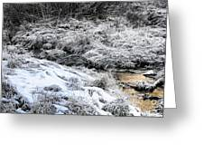 Snowy Mountain Stream V2 Greeting Card