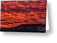 Snowy Mountain Sunset Greeting Card