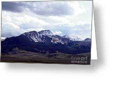 Snowy Mountains In Spring Greeting Card