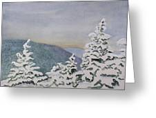 Snowy Mountains Of Nek Greeting Card