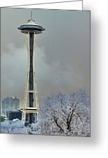 Snowy Needle Greeting Card