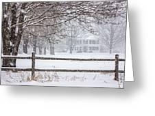 Snowy New England Greeting Card