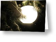 Snowy Night Greeting Card