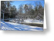 Snowy Otter Brook Greeting Card