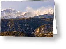 Snowy Pikes Peak Greeting Card