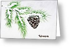 Snowy Pine Greeting Card