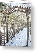 Snowy Promenade Greeting Card