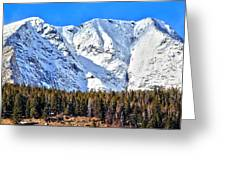 Snowy Ridge Greeting Card