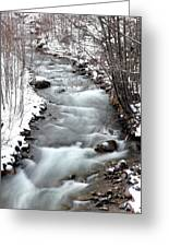 Snowy River At Mt. Hood Greeting Card